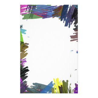 Beautiful Abstract Paint Brush Colors Custom Flyer