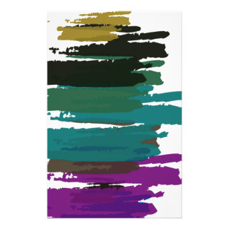 Beautiful Abstract Paint Brush Colors Flyer