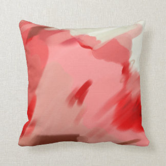 Beautiful Abstract Pink Brown Painted Pattern Throw Pillow