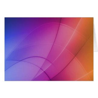 Beautiful Abstract Rainbow Card