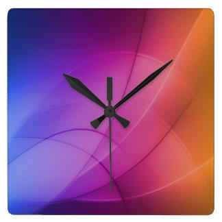 Beautiful Abstract Rainbow Square Wall Clocks