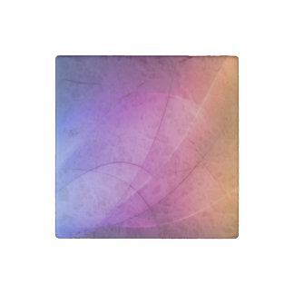 Beautiful Abstract Rainbow Stone Magnet