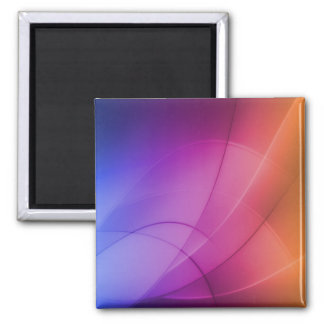 Beautiful Abstract Rainbow Magnet