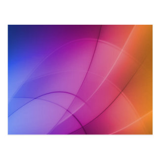 Beautiful Abstract Rainbow Post Cards