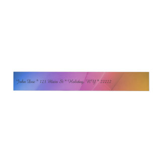 Beautiful Abstract Rainbow Wrap Around Address Label