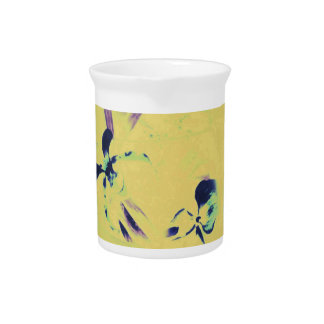 Beautiful Abstract Slipper Orchids in Purple With Drink Pitcher