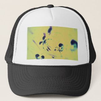 Beautiful Abstract Slipper Orchids in Purple With Trucker Hat