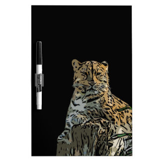 Beautiful Abstract Tiger Black Background Dry-Erase Board