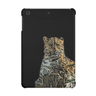 Beautiful Abstract Tiger Black Background iPad Mini Cases