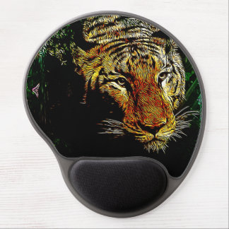 Beautiful abstract wild tiger gel mouse pads