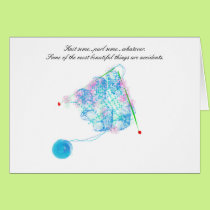 Beautiful accidents knitting card