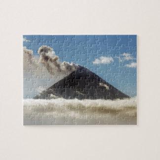Beautiful active volcano jigsaw puzzle
