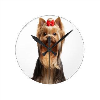 Beautiful adorable dog round clock