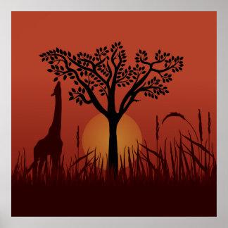 Beautiful Africa Illustration Poster