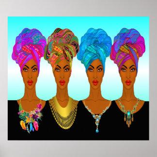 Beautiful African American / Black Women Poster