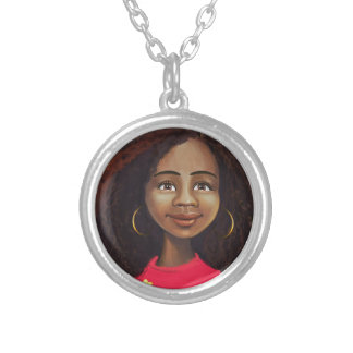 beautiful African American girl Custom Necklace