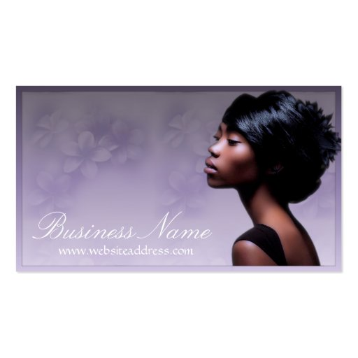 Beautiful african american woman 2 business cards zazzle for Business cards for women