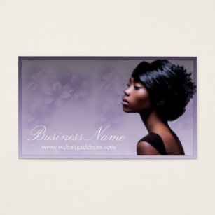 African american woman business cards templates zazzle beautiful african american woman 2 business cards colourmoves Images