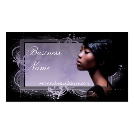 Beautiful african american woman business cards zazzle for Business cards for women