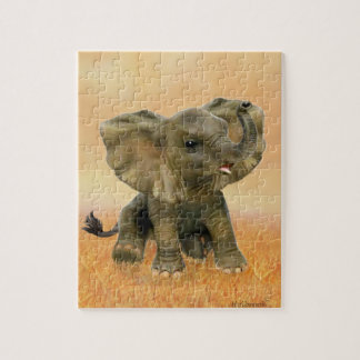 Beautiful African Baby Elephant Jigsaw Puzzle