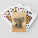 """Beautiful African Baby Elephant Playing Cards<br><div class=""""desc"""">Her name is Babe for Beautiful African Baby Elephant.</div>"""