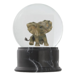 Beautiful African Baby Elephant Snow Globe
