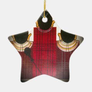 Beautiful African Ethnic Tribal Masai Ornaments.pn Ceramic Ornament