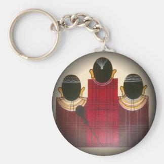 Beautiful African Ethnic Tribal Masai Ornaments.pn Keychain