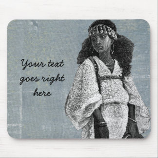 Beautiful African Girl Mouse Pad