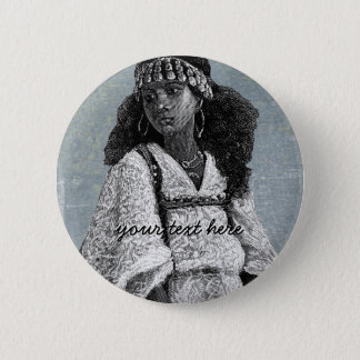 Beautiful African Girl Pinback Button