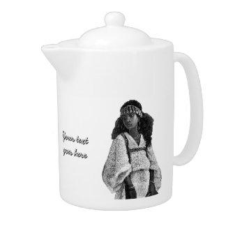 Beautiful African Woman Teapot