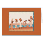 Beautiful African women collecting water Greeting Card
