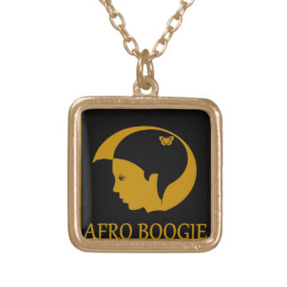 Beautiful Afro Boogie square metal necklace