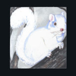 """Beautiful Albino Squirrel Notepad<br><div class=""""desc"""">This is a print of my painting of a beautiful albino squirrel from Wisconsin. The picture of the squirrel appeared in a Wisconsin newspaper. A darling looking creature.</div>"""