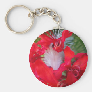 Beautiful Alien Crimson.jpg Basic Round Button Keychain