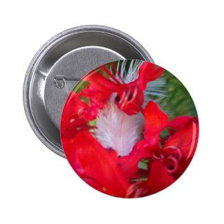 Beautiful Alien Crimson.jpg Pinback Button