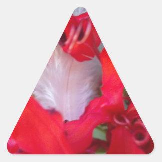 Beautiful Alien Crimson.jpg Triangle Sticker