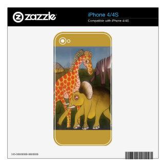 Beautiful Amazing African animal safari color Decal For iPhone 4