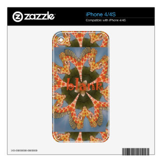Beautiful amazing African colorful Giraffe blank Decals For iPhone 4S