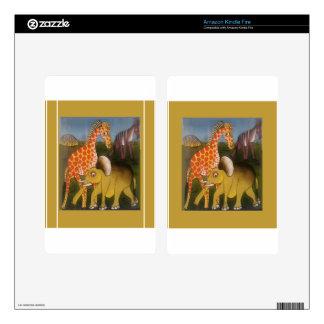 Beautiful Amazing African wild animal safari color Kindle Fire Decals