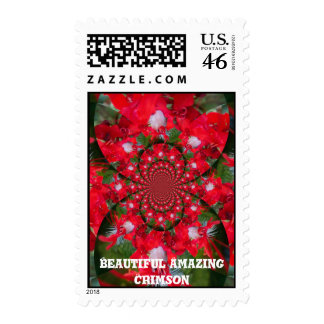 Beautiful Amazing Crimson Stamp