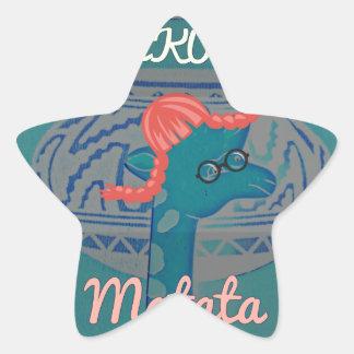Beautiful amazing cute girly funny giraffe graphic star sticker