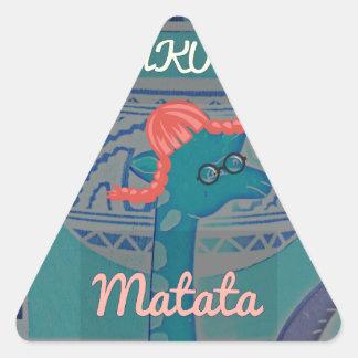 Beautiful amazing cute girly funny giraffe graphic triangle sticker