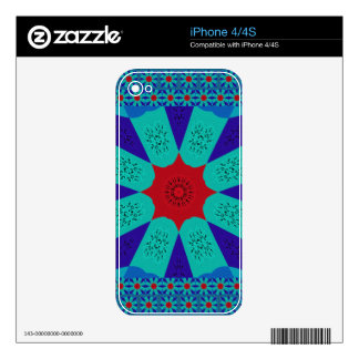 Beautiful Amazing Egyptian  Feminine Design Color Decals For iPhone 4