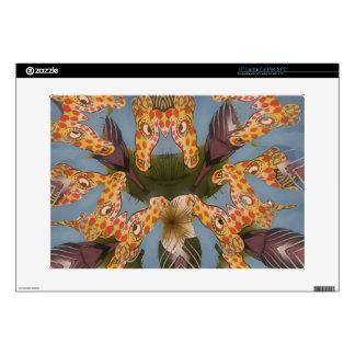 "Beautiful amazing Funny African Giraffe pattern de 15"" Laptop Skins"