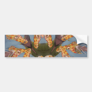 Beautiful amazing Funny African Giraffe pattern de Bumper Sticker