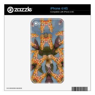 Beautiful amazing Funny African Giraffe pattern de iPhone 4 Decals