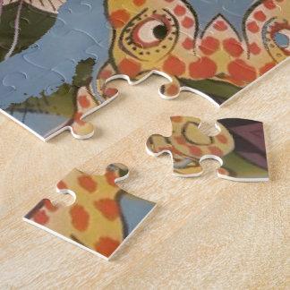 Beautiful amazing Funny African Giraffe pattern de Jigsaw Puzzle