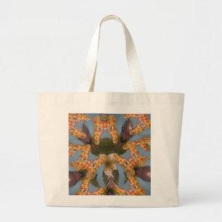 Beautiful amazing Funny African Giraffe pattern de Large Tote Bag