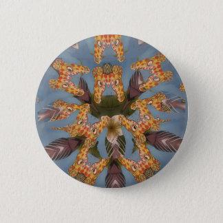 Beautiful amazing Funny African Giraffe pattern de Pinback Button